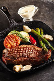 Grilled Strip Steak Royalty Free Stock Images