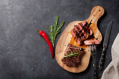 Grilled striploin steak Stock Images