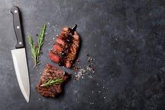 Grilled striploin steak Stock Photos