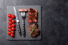 Grilled striploin steak Royalty Free Stock Photo