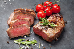 Grilled striploin steak Royalty Free Stock Photography