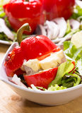 Grilled stuffed red bell pepper Stock Image