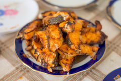 Grilled sturgeon fillets Stock Photo