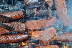 Grilled sucuk Royalty Free Stock Photography