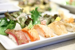 Grilled Sushi Royalty Free Stock Images