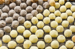 Grilled sweet cassava and taro ball (Thai Dessert) Royalty Free Stock Images