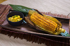 Grilled Sweet Corn Stock Photography