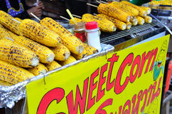 Grilled sweet corn on Street Market Stock Image
