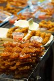 Grilled Sweet Fish of Thai style grill in the street food stock photography