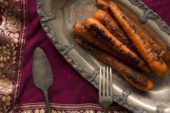Grilled Sweet Nantes Carrots Stock Photos