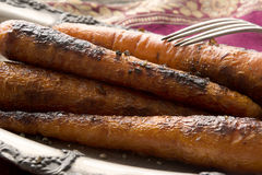 Grilled Sweet Nantes Carrots Stock Photo