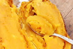 Grilled sweet potato Royalty Free Stock Image