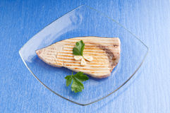 Grilled swordfish royalty free stock photo