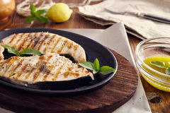 Grilled swordfish Royalty Free Stock Images