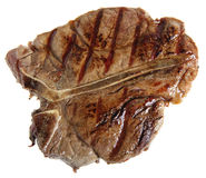 Grilled T-bone from above Royalty Free Stock Image