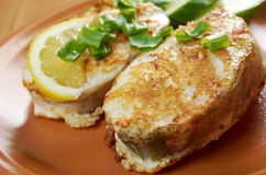 Grilled t-bone codfish  steak Royalty Free Stock Image