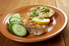 Grilled t-bone codfish  steak Royalty Free Stock Images