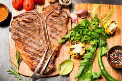 Grilled T-bone steak Royalty Free Stock Images
