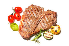 Grilled T-bone steak isolated Royalty Free Stock Photo
