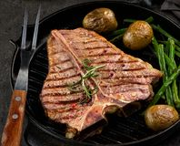 Grilled T bone steak Royalty Free Stock Photos