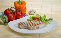Grilled t-bone steak Stock Photos