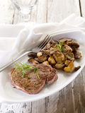Grilled tenderloin with cep Stock Images