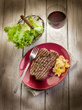 Grilled tenderloin with mushroom Stock Photography