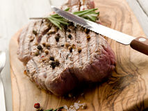 Grilled tenderloin with pepper Royalty Free Stock Images