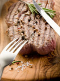 Grilled tenderloin with pepper Stock Photography