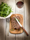 Grilled tenderloin with pepper Royalty Free Stock Photos