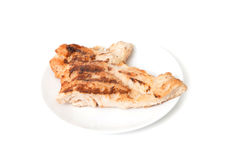Grilled teriyaki chickend on ceramic plate Royalty Free Stock Photography