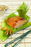 Grilled teriyaki salmon Stock Images