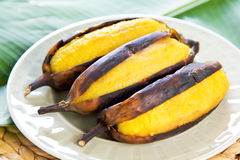 Grilled banana Royalty Free Stock Photography