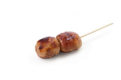 Grilled Thai Sausage Style on wood stick Stock Photography