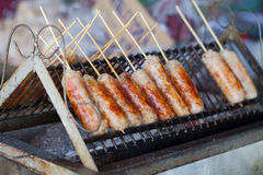 Grilled Thai sausages Royalty Free Stock Images