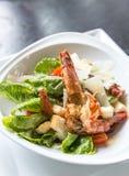 Grilled tiger prawn salad Royalty Free Stock Images