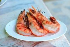Grilled tiger prawns Stock Photos