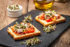 Grilled Toasted Bread Royalty Free Stock Photos