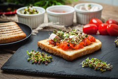 Grilled toasted bread Royalty Free Stock Images
