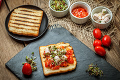Grilled toasted bread Stock Photos