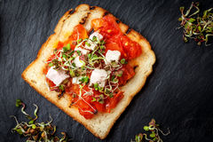 Grilled toasted bread Stock Image