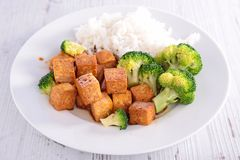 Grilled tofu with soy sauce Royalty Free Stock Photography