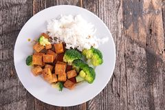 Grilled tofu with soy sauce Stock Images