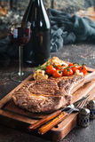 Grilled tomahawk beef steak Royalty Free Stock Photo