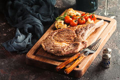 Grilled tomahawk beef steak Royalty Free Stock Photos