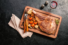 Grilled tomahawk beef steak Royalty Free Stock Photography