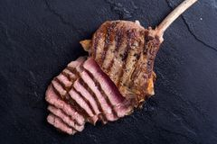 Grilled tomahawk steak. Beef . With rosemary Royalty Free Stock Photos