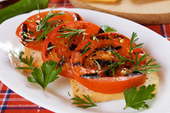Grilled tomato Royalty Free Stock Image