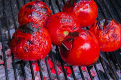 Grilled tomato. Fresh grilled tomato iranian dish Stock Photo