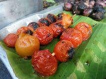 Grilled tomato for Nam Prik Chilli sauce Stock Photo